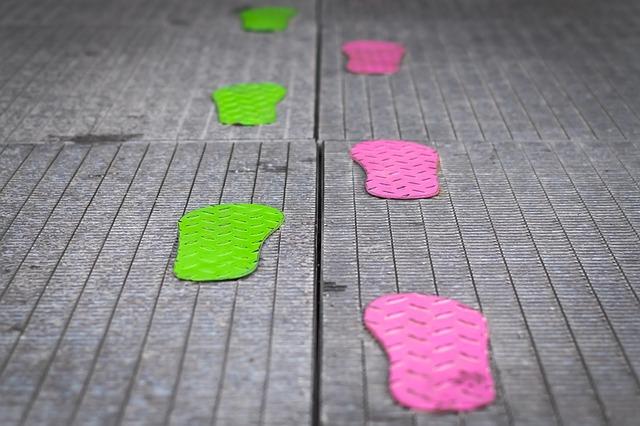 barevné stopy