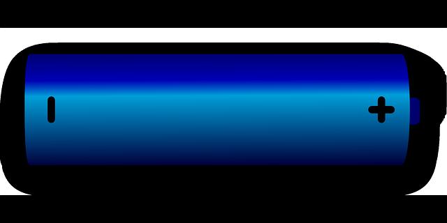 modrá baterie