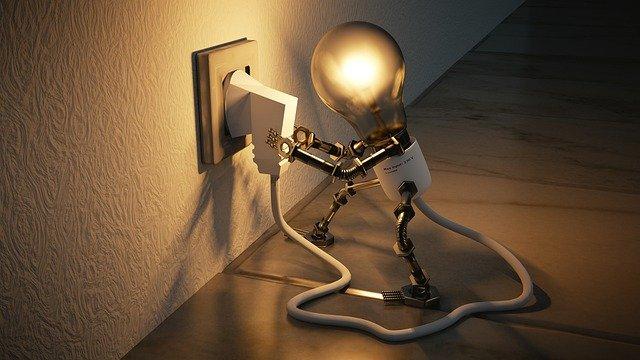 žárovka na kabelu
