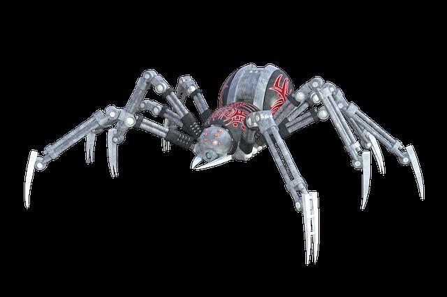 robot ve tvaru pavouka